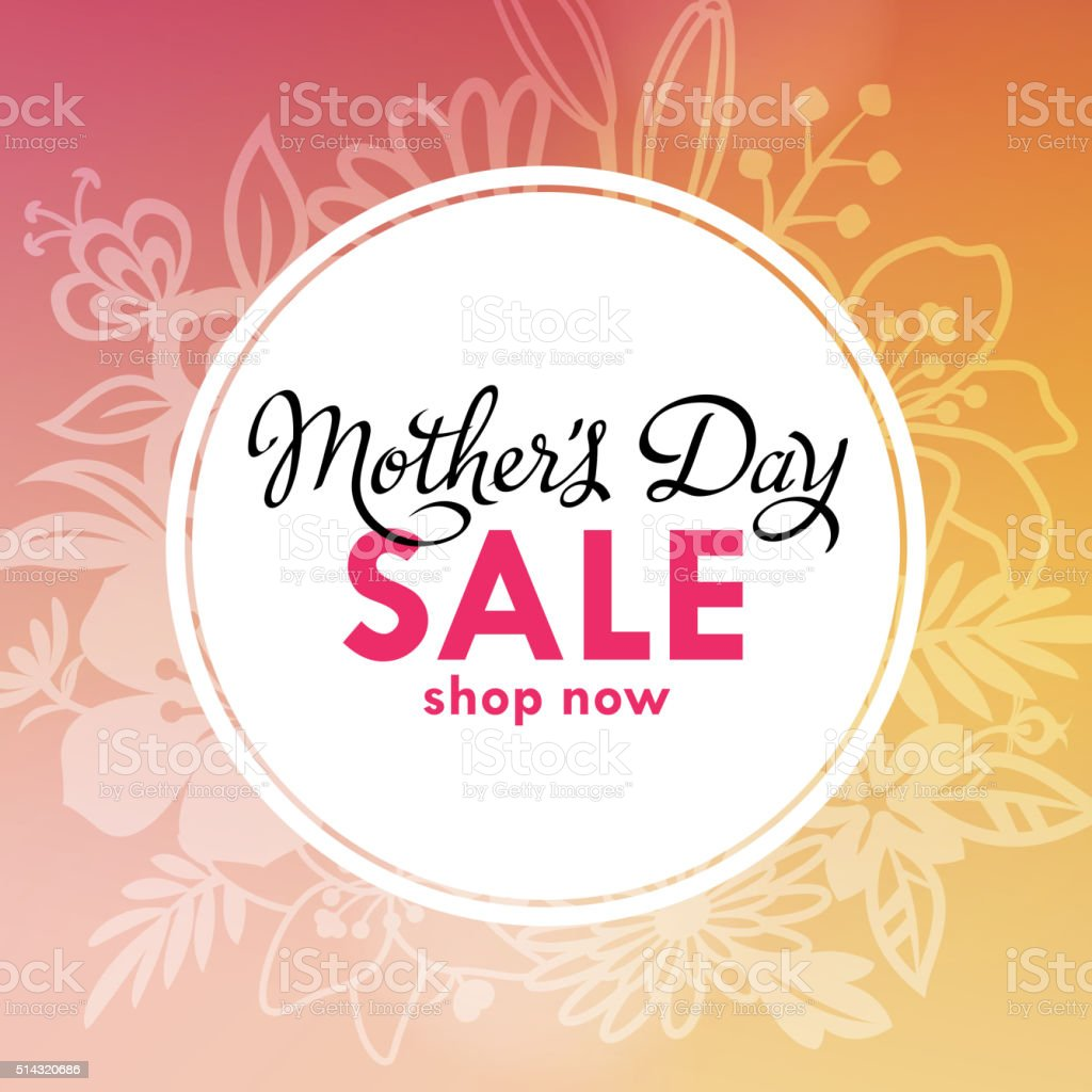 Mother's Day Sale Lable vector art illustration