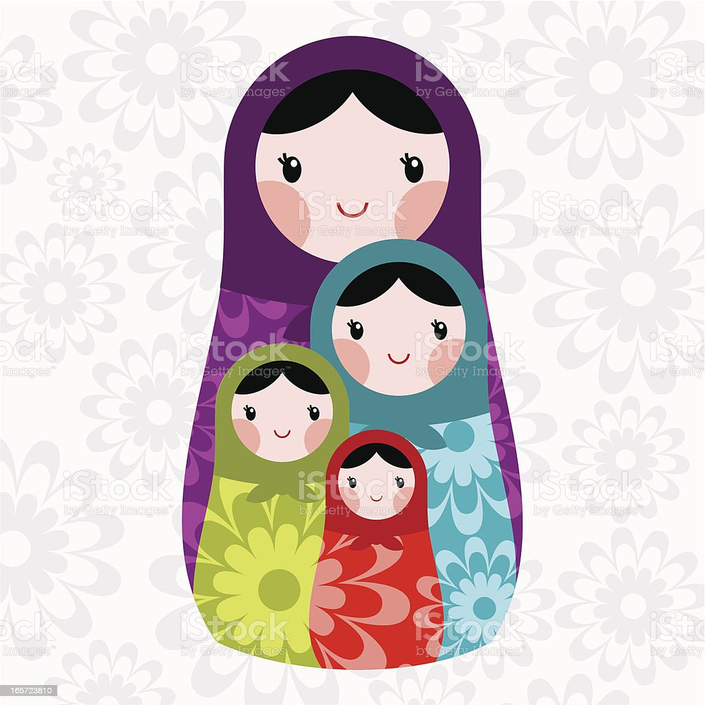 Mothers Day vector art illustration