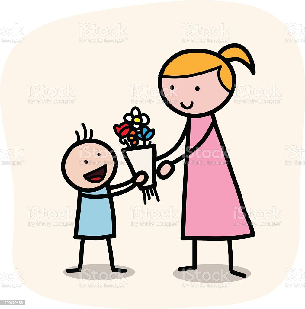 Mother's Day vector art illustration