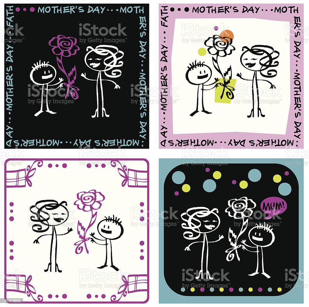 Mother's day royalty-free stock vector art