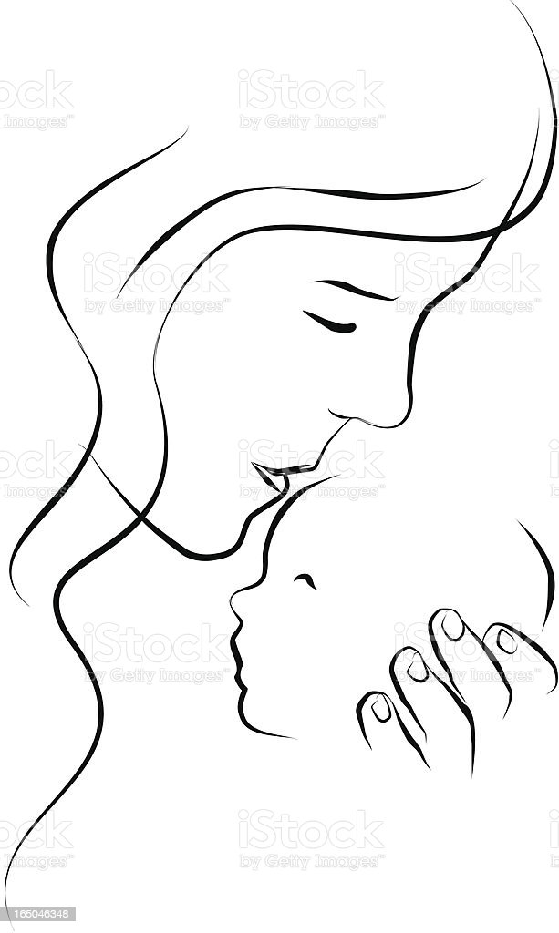 Mothers love royalty-free stock vector art