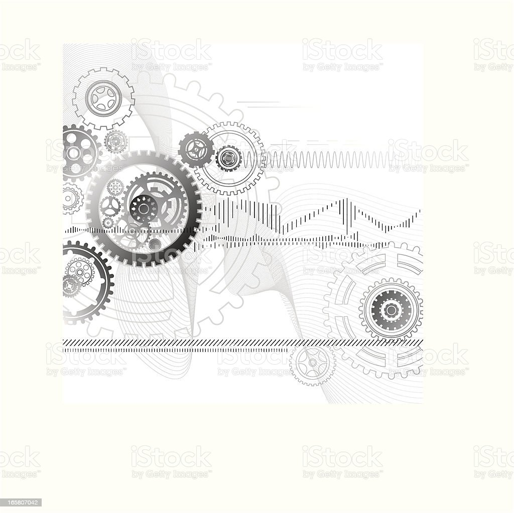 Motion Gear Technology Background vector art illustration