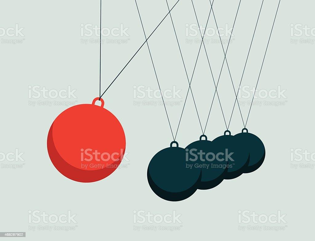 Motion Pendulum-Illustration vector art illustration