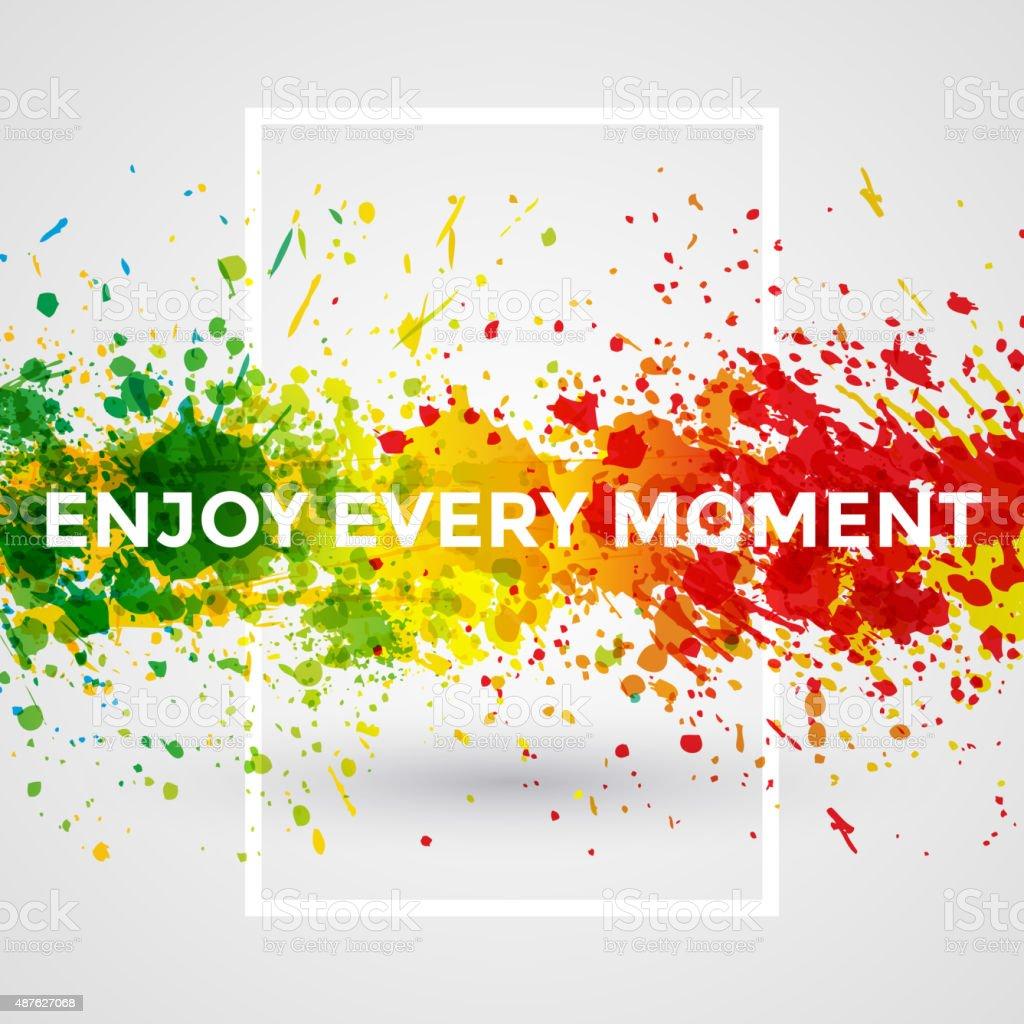 Motivation bright Paint Splashes vector Watercolor Poster. Background vector art illustration