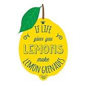 Motivation quote about lemons