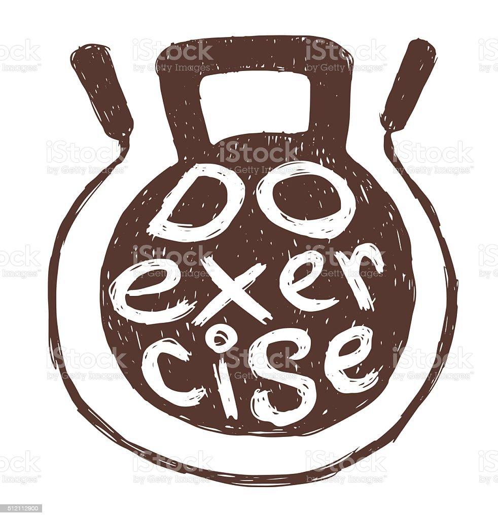 Motivational card 'Do exercise' vector art illustration