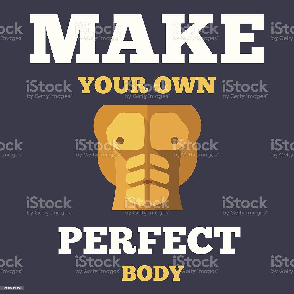 Motivational fitness poster royalty-free stock vector art