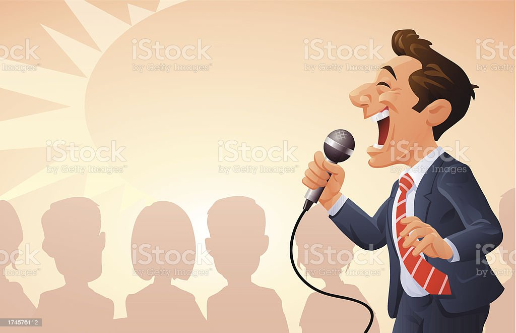 Motivational Seminar vector art illustration
