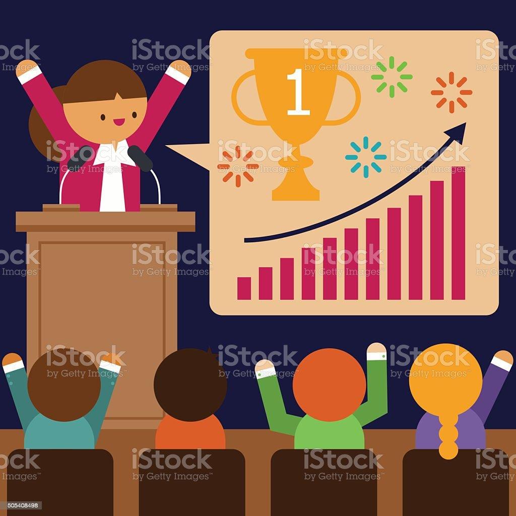Motivational Speaker vector art illustration