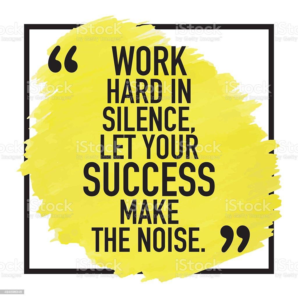 Motivational Success Quote Poster Design vector art illustration