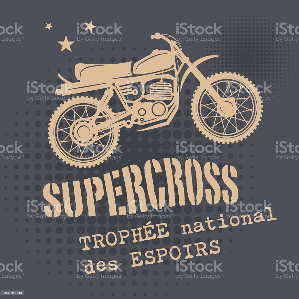 Motocross background vector art illustration