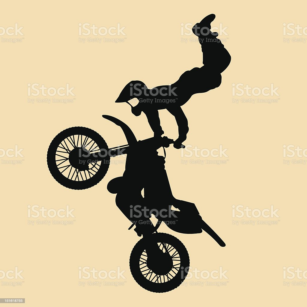 motocross jump royalty-free stock vector art