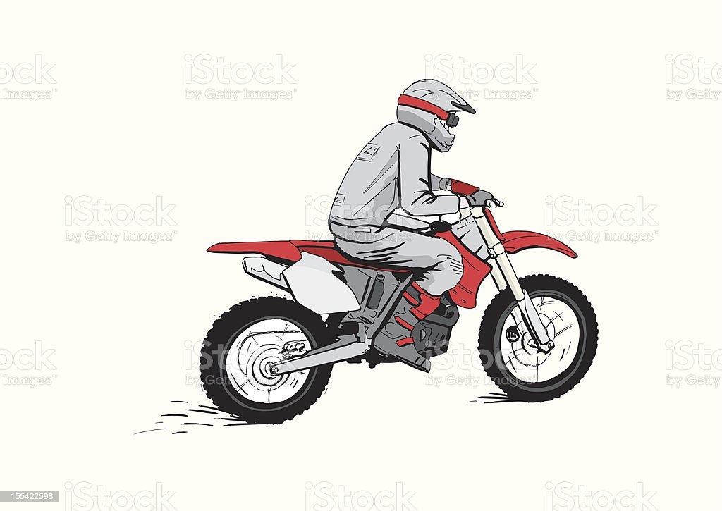 Motocross rider vector art illustration