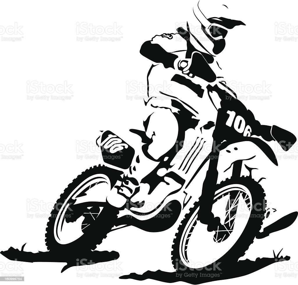 Motocross Illustration : Istockphoto