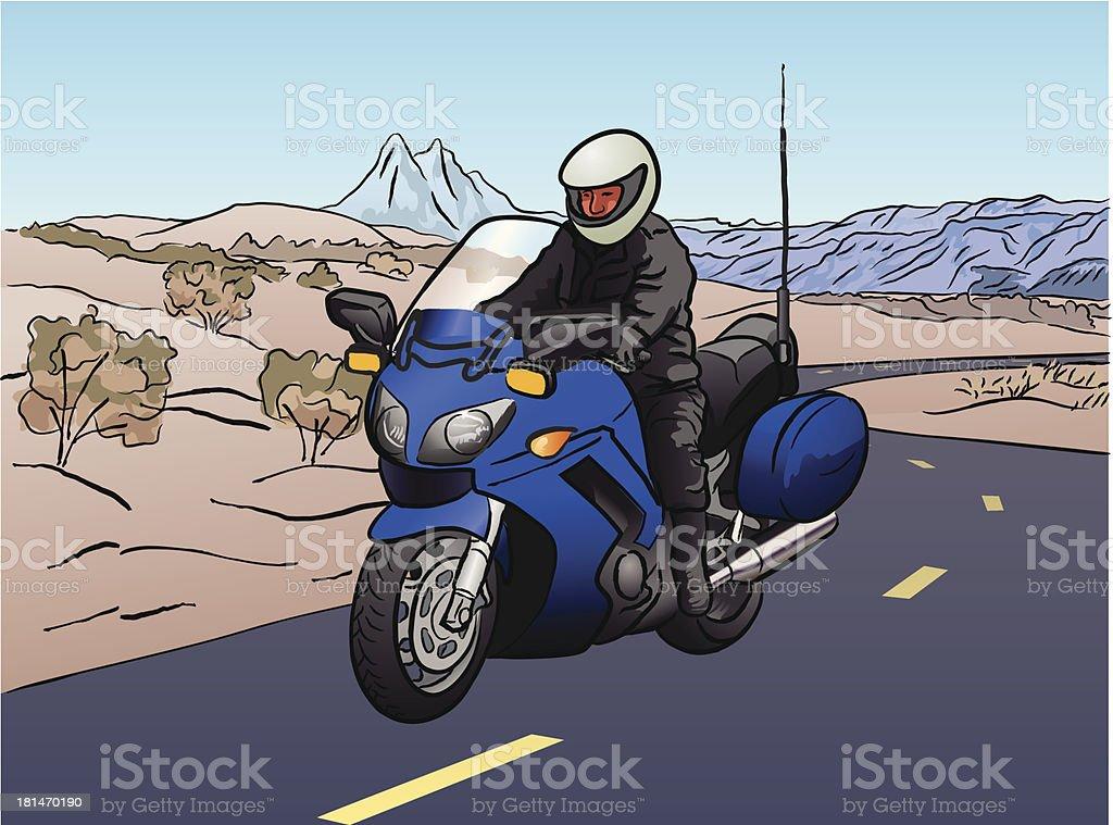 Motocyclette royalty-free stock vector art