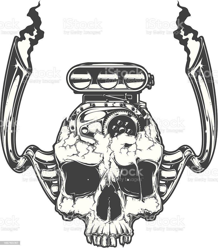 motor head vector art illustration