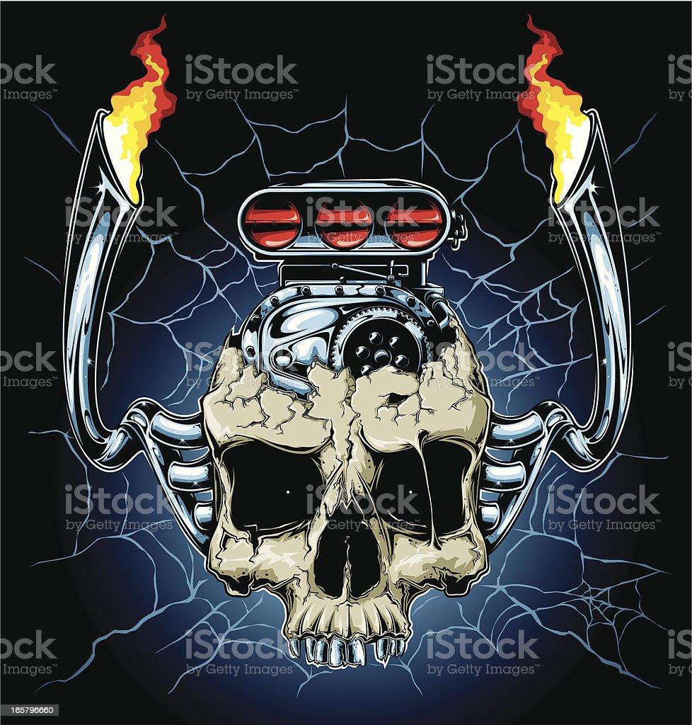 motor head royalty-free stock vector art