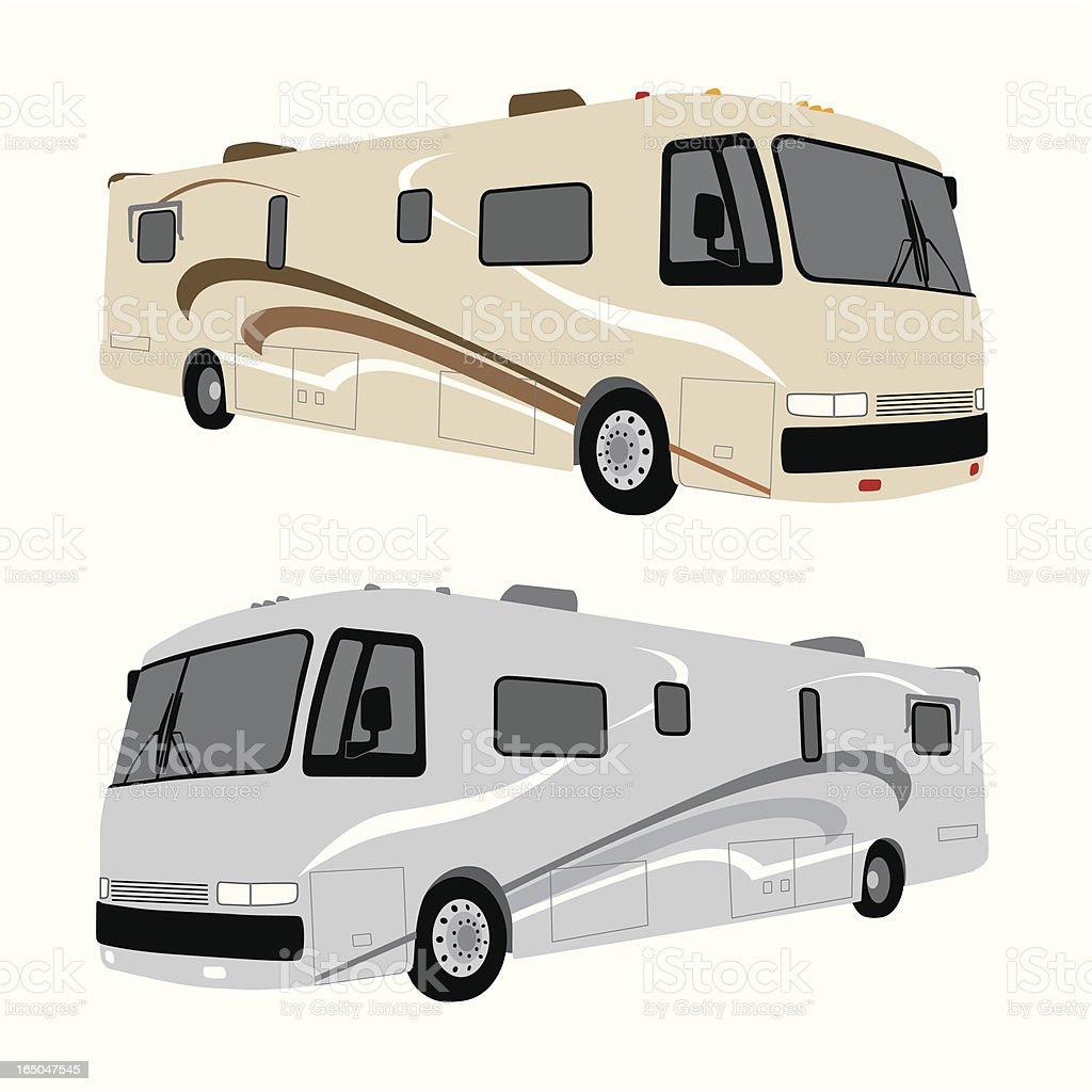 Motor Home Vector vector art illustration