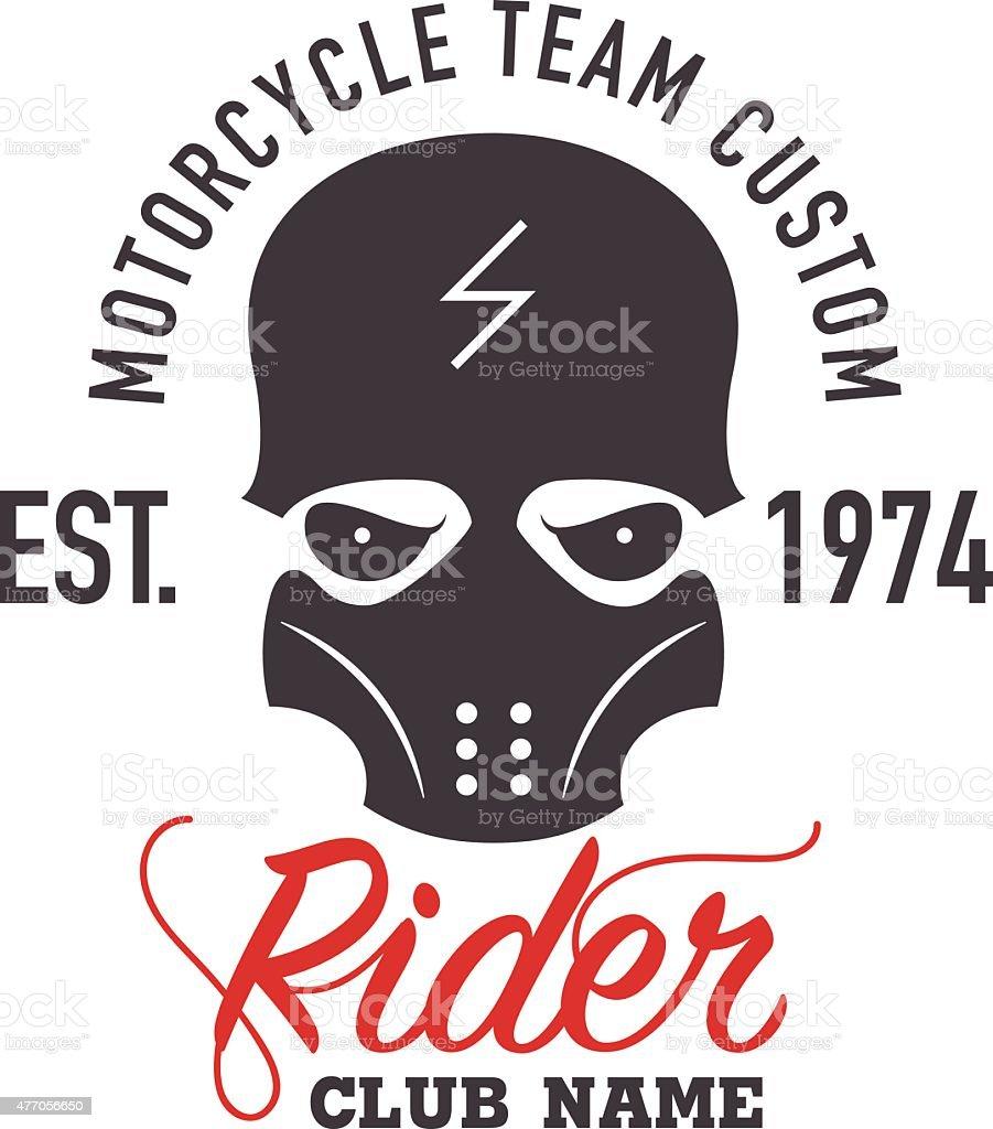 motor logo graphic design. logo, Sticker, label, arm. vector art illustration