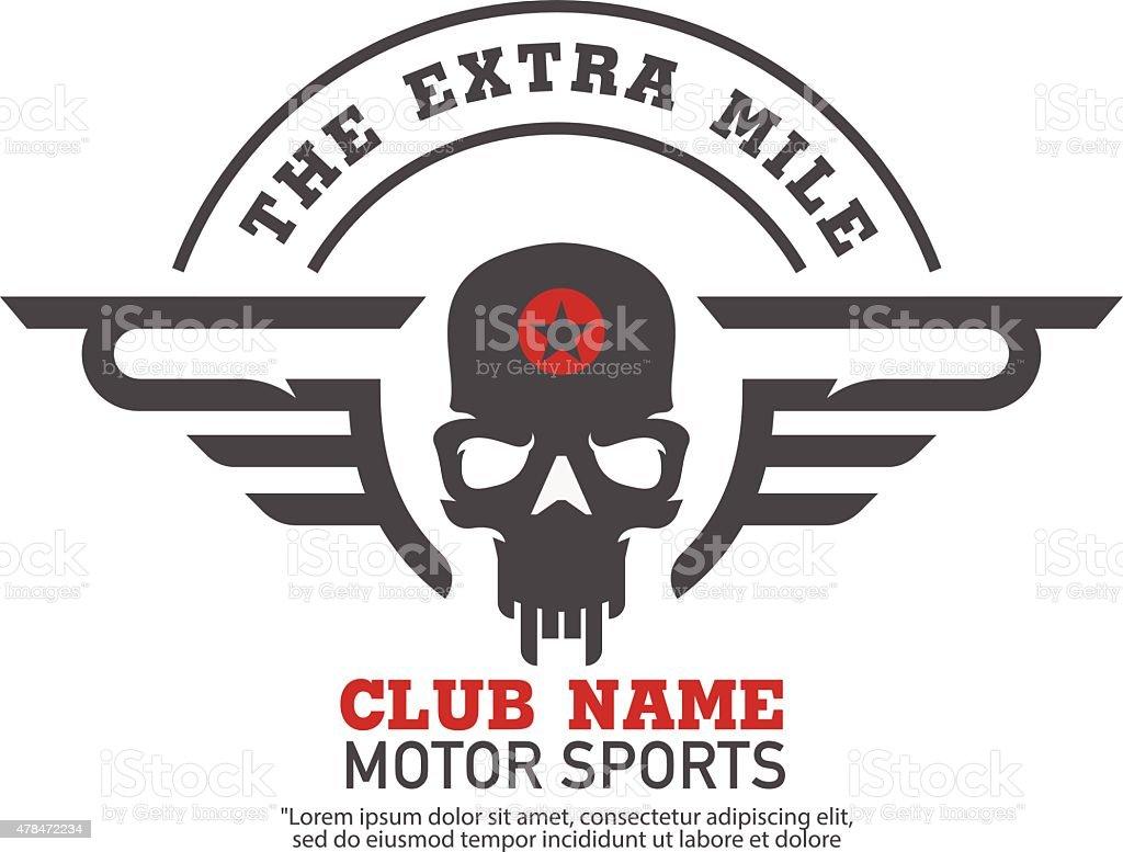 motor logo graphic design. logo, Sticker, label, arm vector art illustration