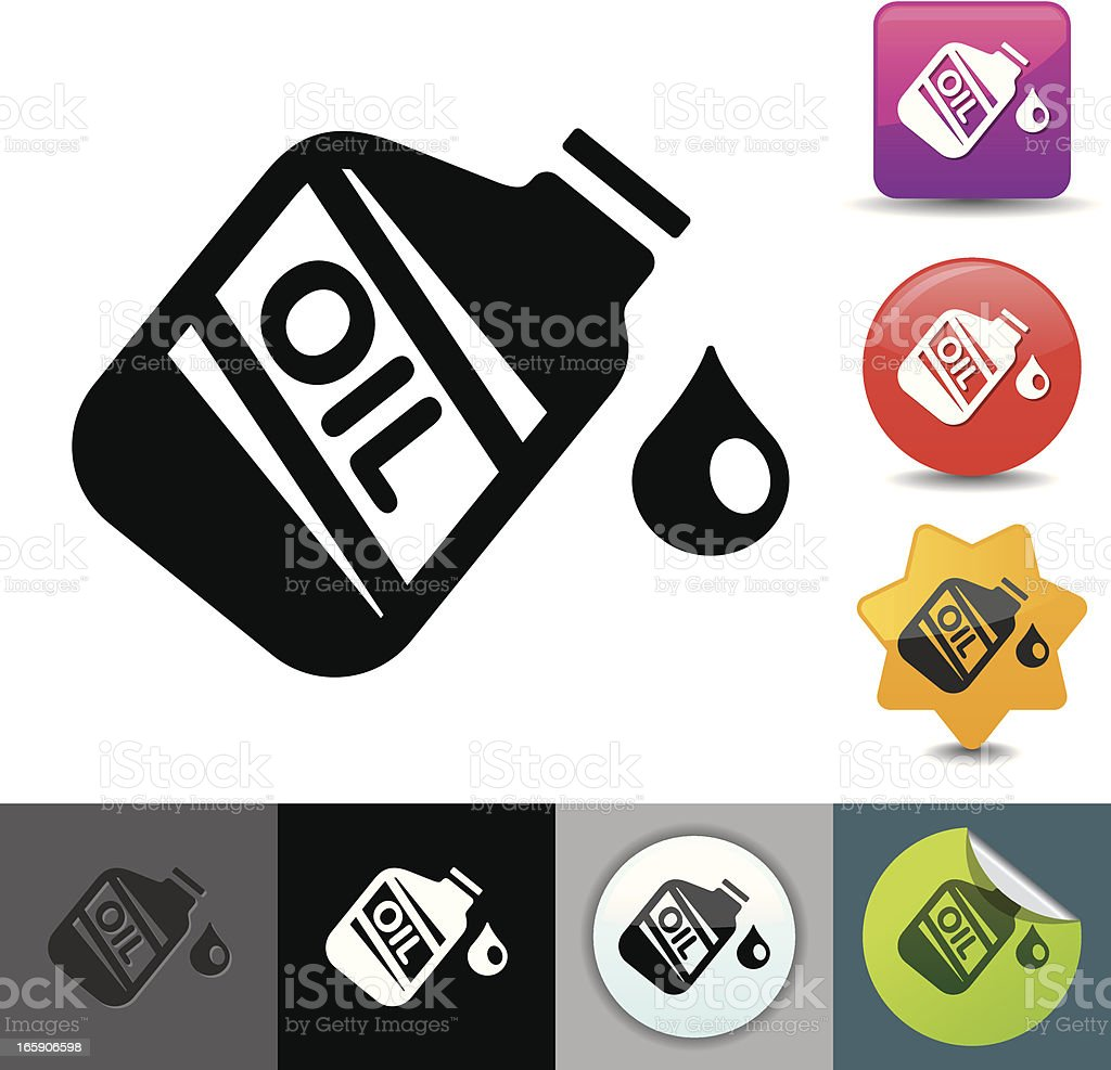 Motor oil icon | solicosi series vector art illustration
