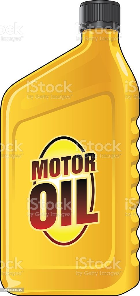 Motor Oil Quart vector art illustration