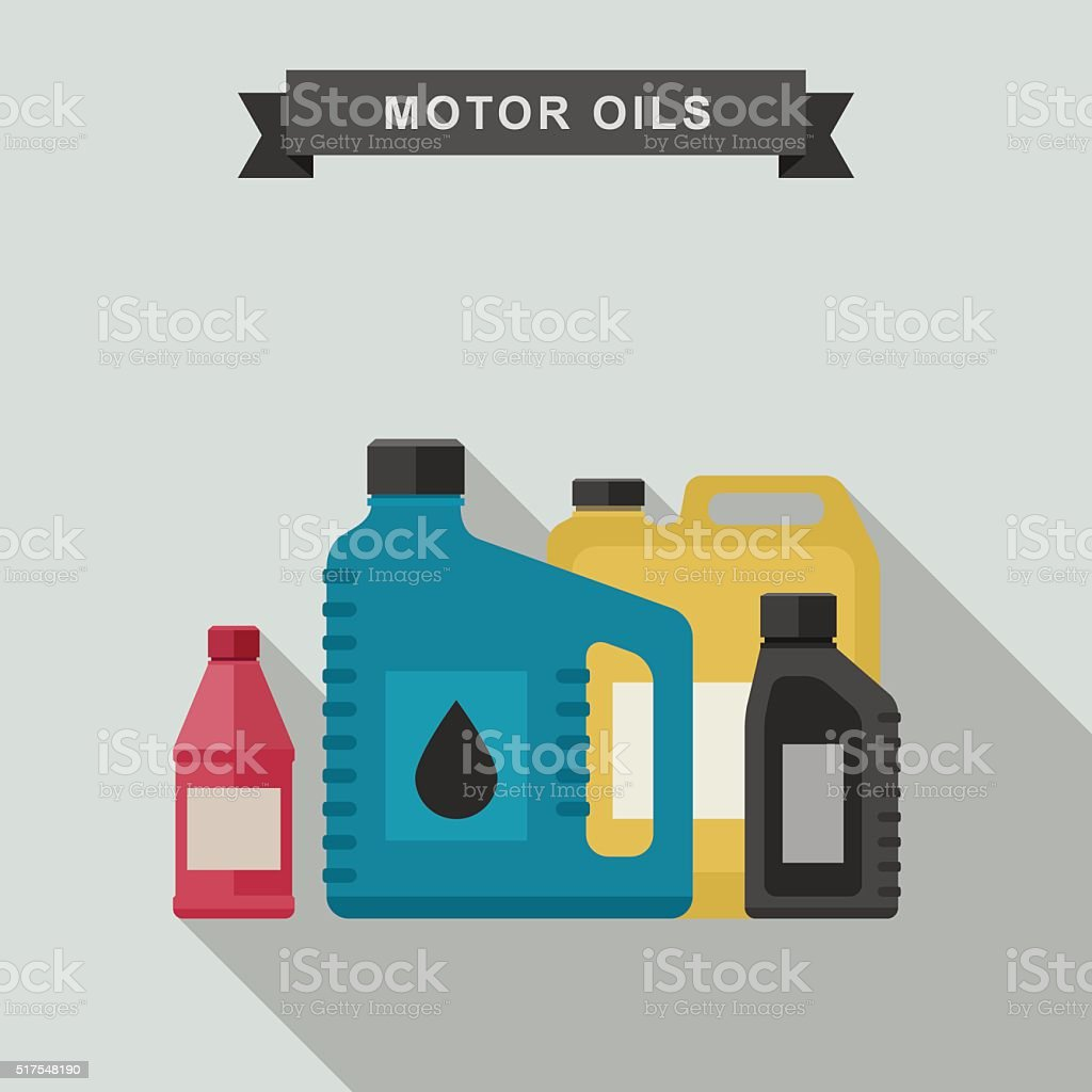 Motor oils icon. vector art illustration