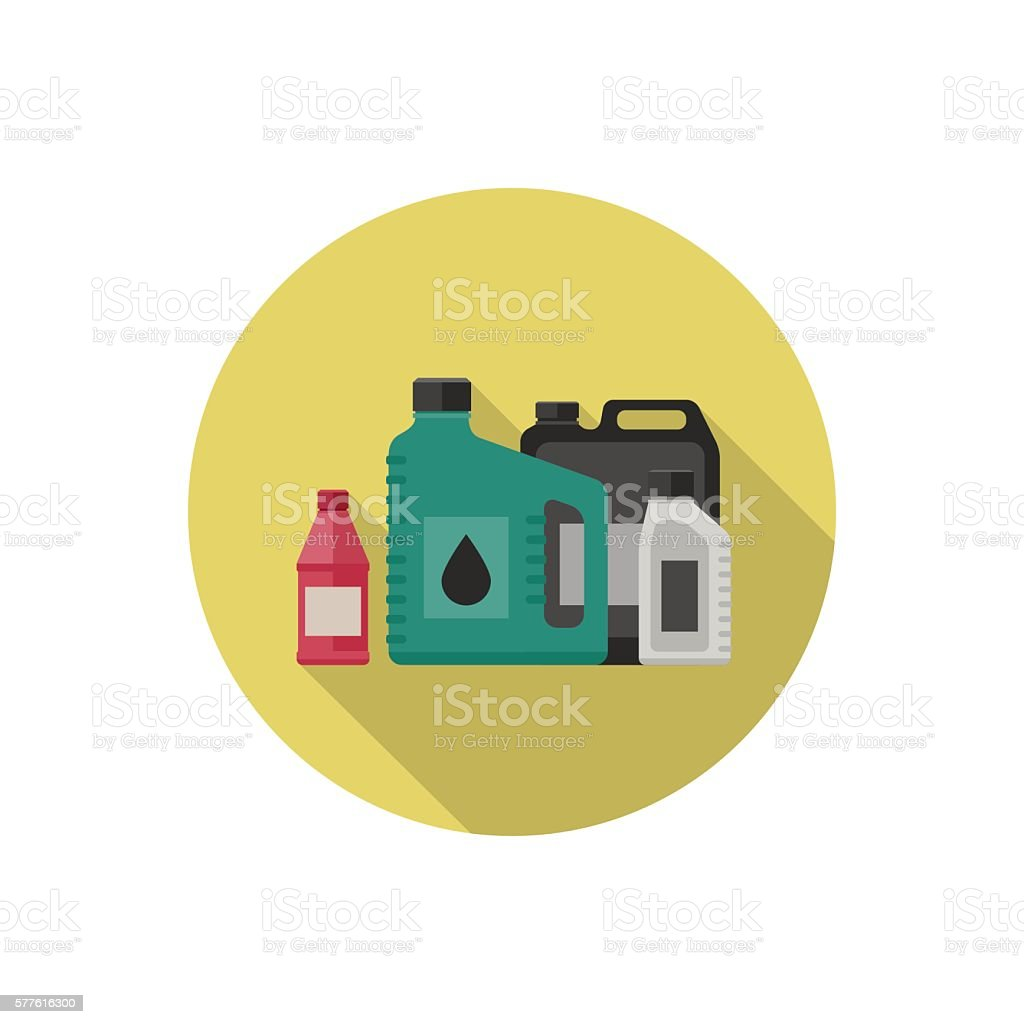 Motor oils icon. vector art illustration