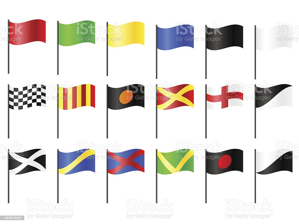 Motor Racing Flags vector art illustration