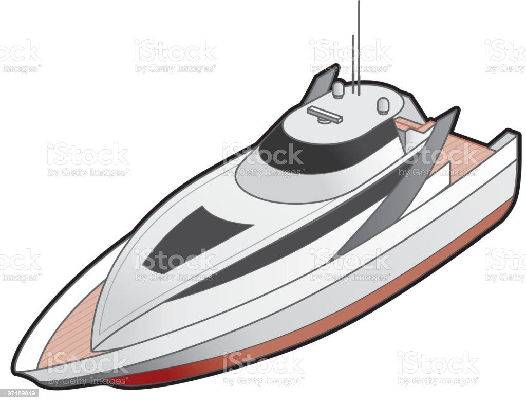 Motor Yacht Icon. Design Elements royalty-free stock vector art