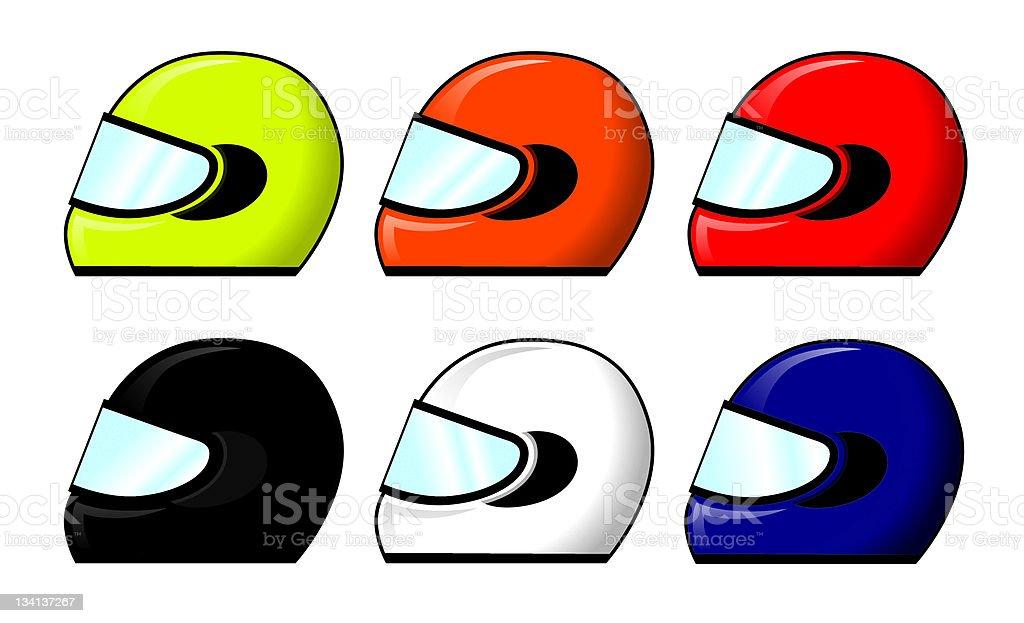 Motorbike Helmets royalty-free stock vector art