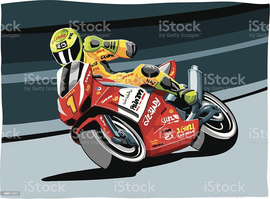 Motorbike Racing vector art illustration