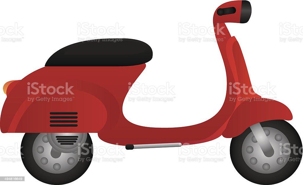 Motorbike Tag vector art illustration