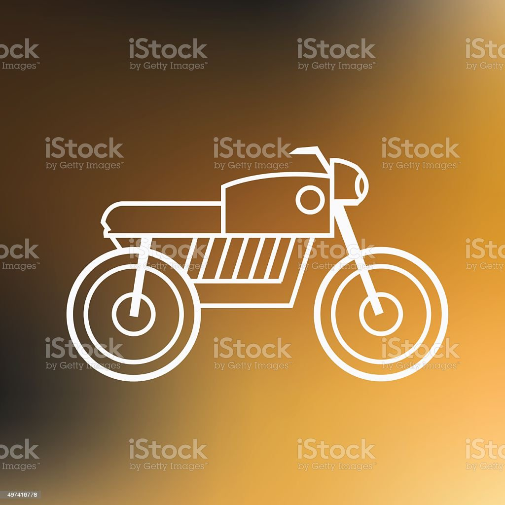 Motorbike thin line icon isolated on blured background royalty-free stock vector art
