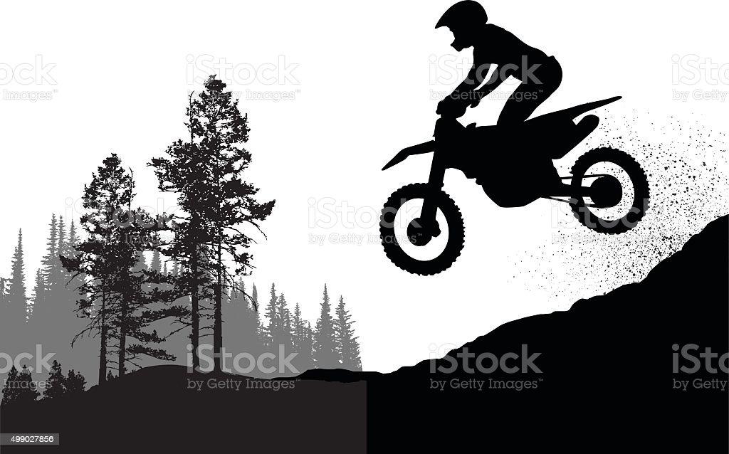 Motorcross Personal Best vector art illustration