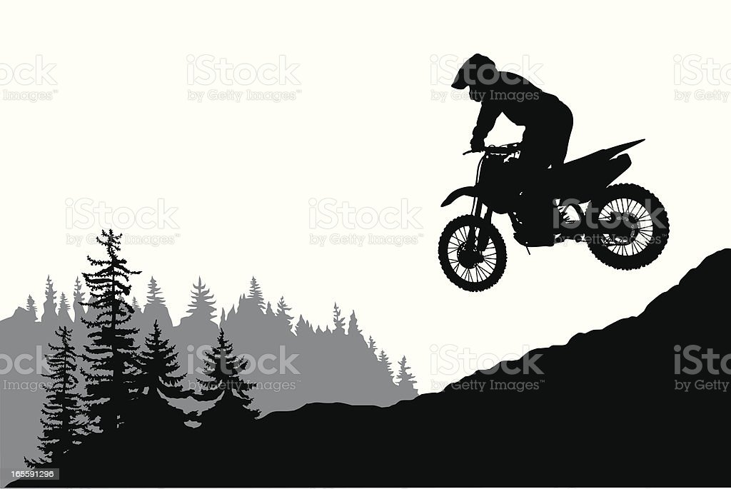 Motorcross Vector Silhouette vector art illustration