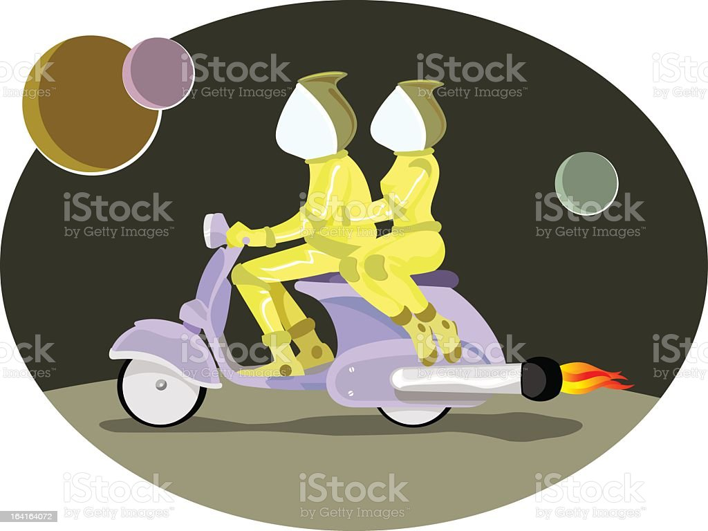 Motorcycle future royalty-free stock vector art