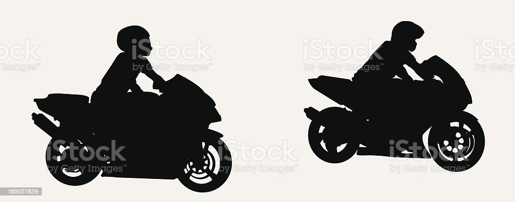 Motorcycle Gang ( vector ) royalty-free stock vector art