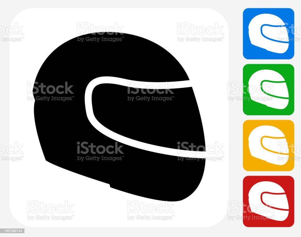 Motorcycle Helmet Icon Flat Graphic Design vector art illustration