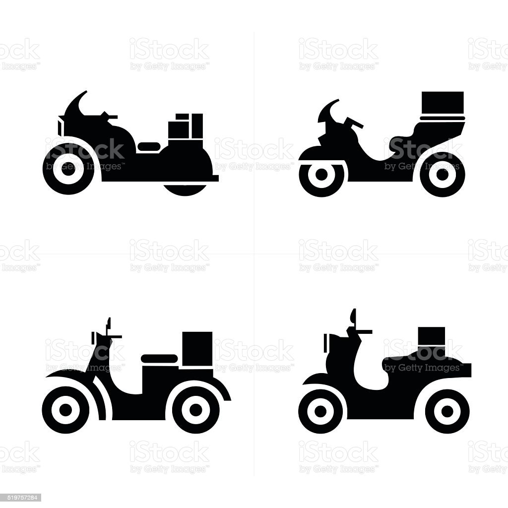 motorcycle  Icons vector art illustration