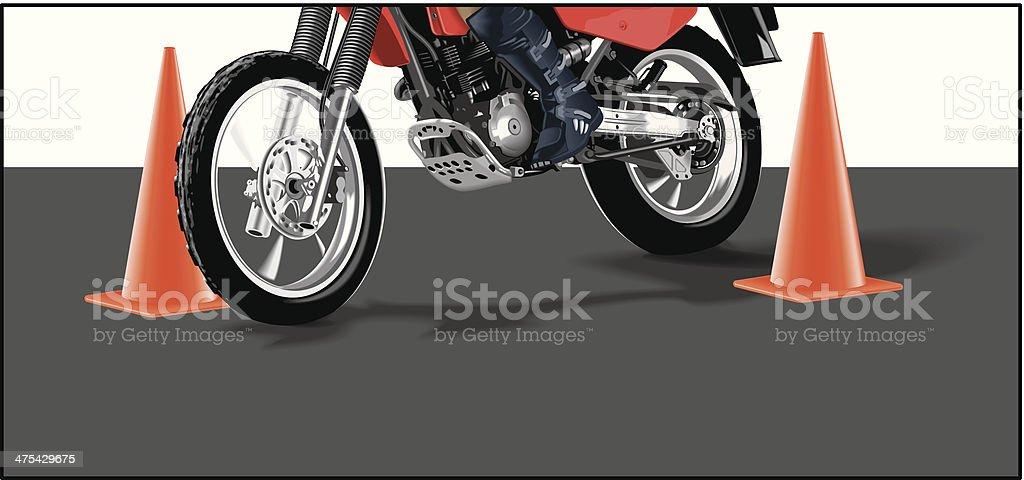 Motorcycle Pylons C royalty-free stock vector art