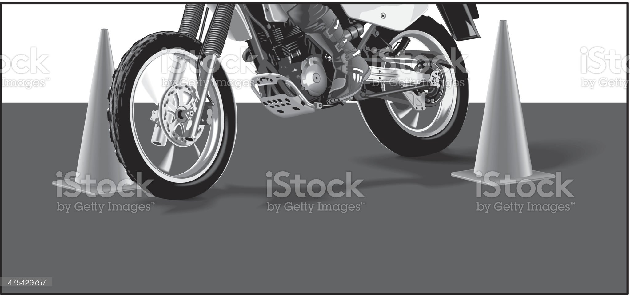Motorcycle Pylons royalty-free stock vector art
