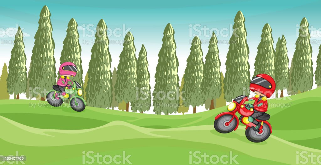 Motorcycle race royalty-free stock vector art