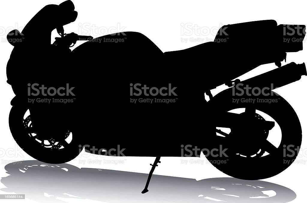 Motorcycle Silhouette royalty-free stock vector art