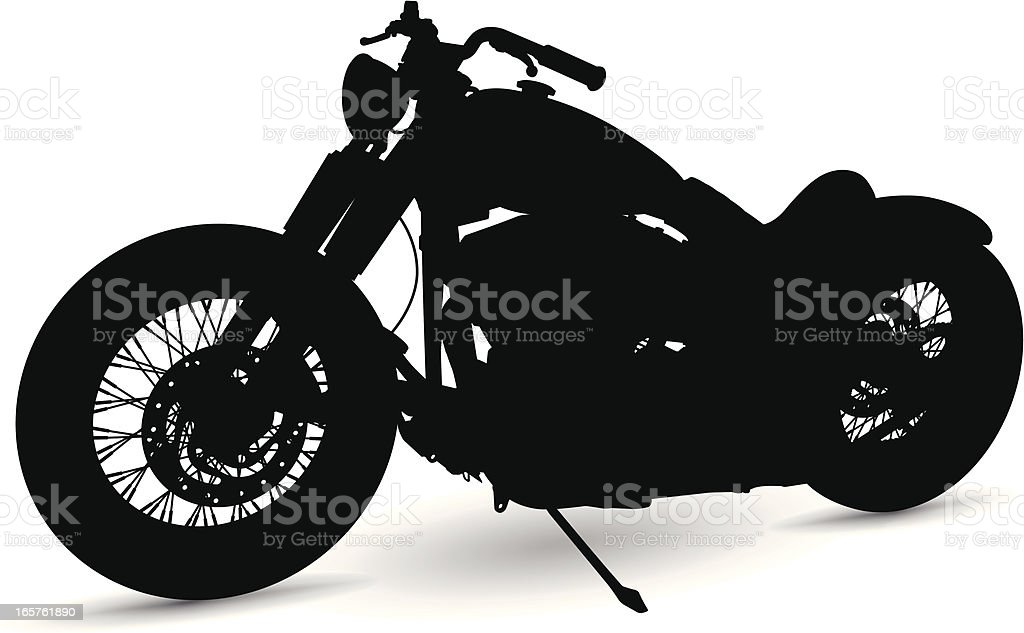 Motorcycle Silhouette vector art illustration