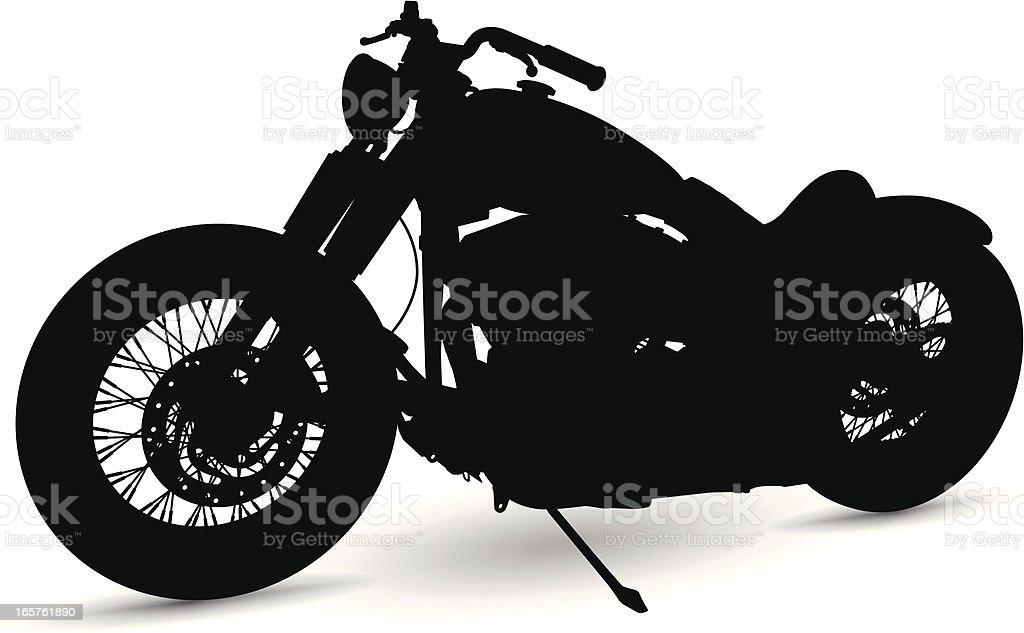 Motorcycle Silhouette vector art illustration