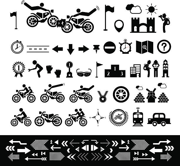 Symbols Of Overcoming Obstacles Background Clip Art Vector Images
