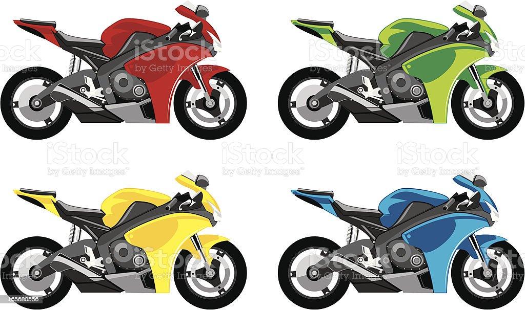 Motorcycle royalty-free stock vector art