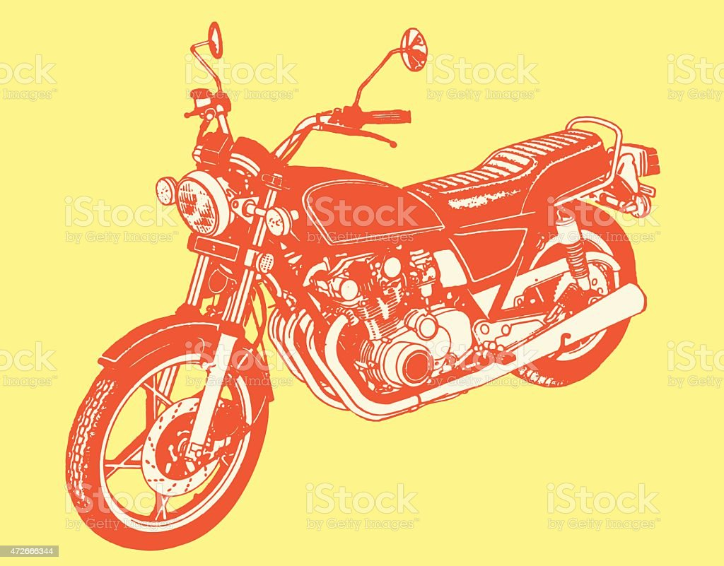 Motorcycle vector art illustration
