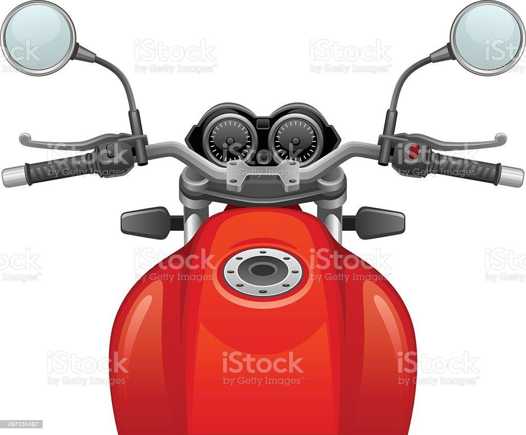 Motorcycle vector art illustration